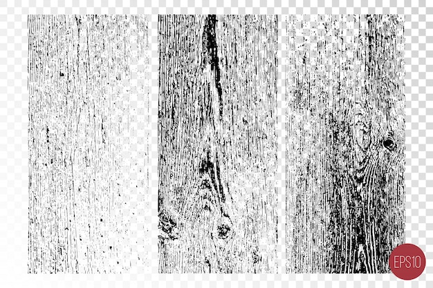 粗い表面、木製の壁の苦しめられたオーバーレイテクスチャ。グランジ背景。 Premiumベクター