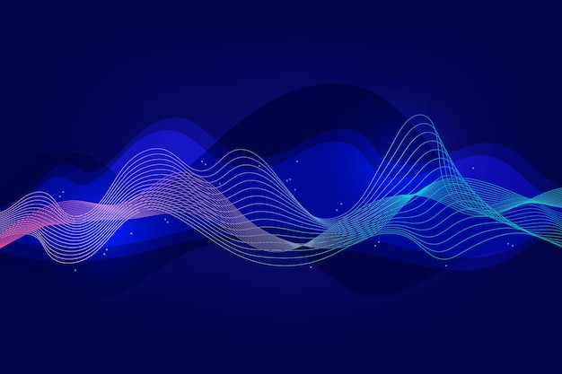 Distribution wavy lines background