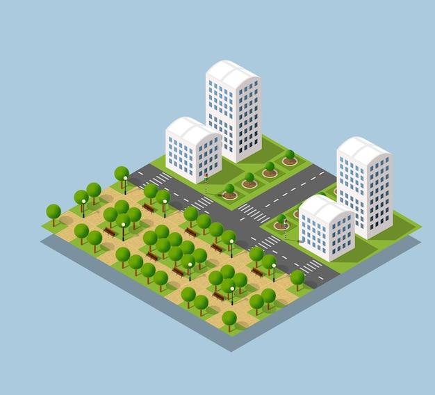 도시 거리 주택 지구
