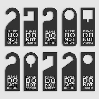 Do not disturb door hanger set.