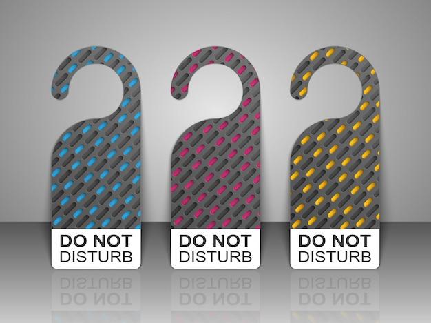 Do not disturb door hanger tags.