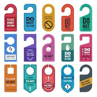 Do not disturb. hotel handle door room symbols for  illustrations.