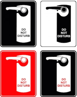 Don't disturb. label on hotel door. isolated.