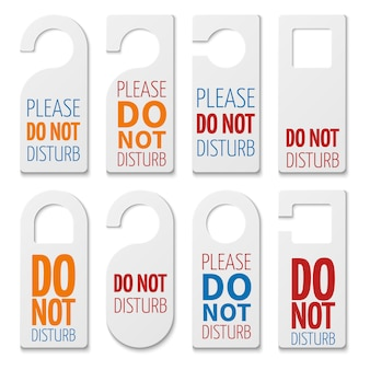 Do not disturb realistic plastic blanks collection