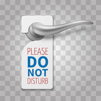 Do not disturb room sign