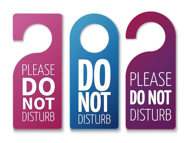 Do not disturb room signs set
