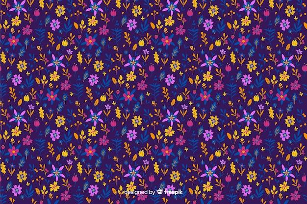 Ditsy красочный фон цветочный