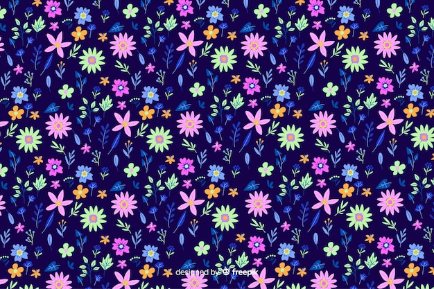 Ditsy красочные цветочные обои