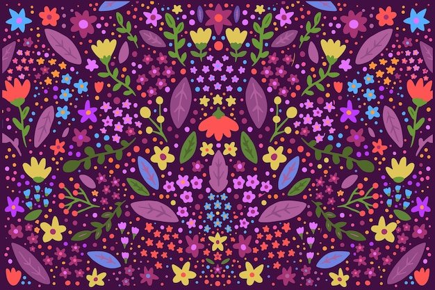 Ditsy colorful flowers screensaver