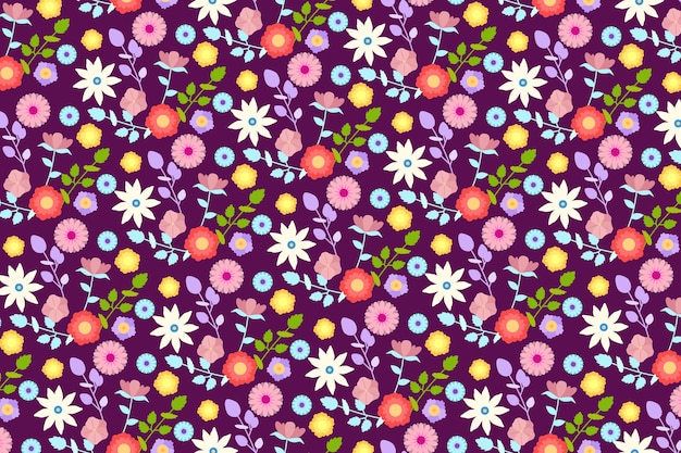 Ditsy colourful floral background