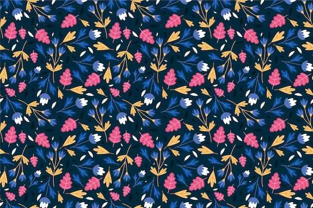 Ditsy floral background seamless pattern