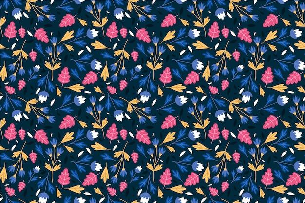 頭が変な花の背景のシームレスパターン