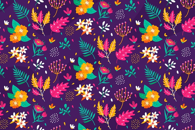 Ditsy floral background