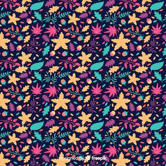 Ditsy floral pattern background Free Vector