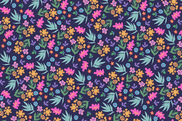 Ditsy floral pattern background