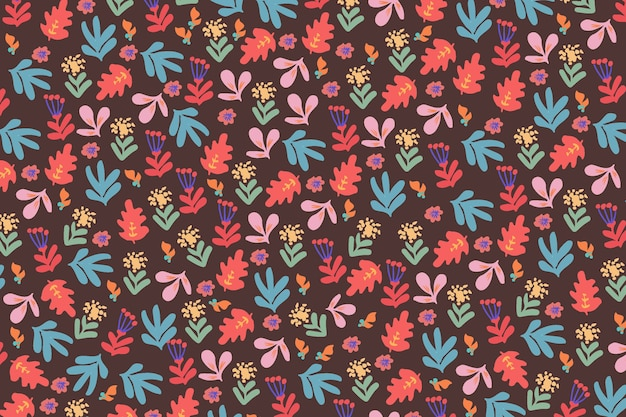 Ditsy floral pattern wallpaper