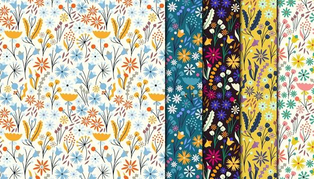 Ditsy花柄シームレスパターンコレクション
