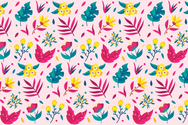 Ditsy floral wallpaper