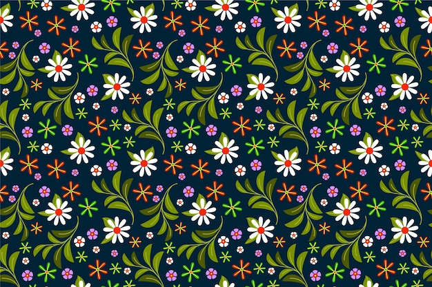 Ditsy flower print wallpaper