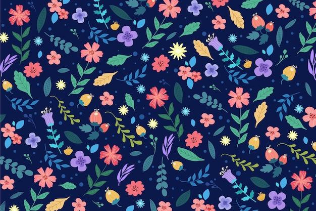 Ditsy красочный цветочный фон