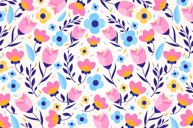 Красочный ditsy цветочный принт фоновой темы