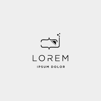 Дизайн логотипа дайв-кода технология глубокого кодирования простая линия вектор