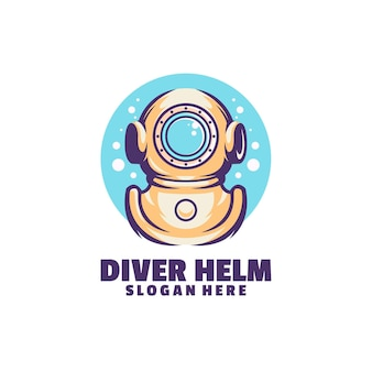 Diver helm logo