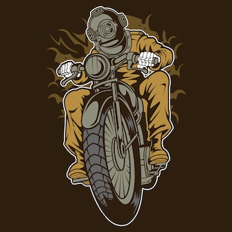 Diver motorcycle