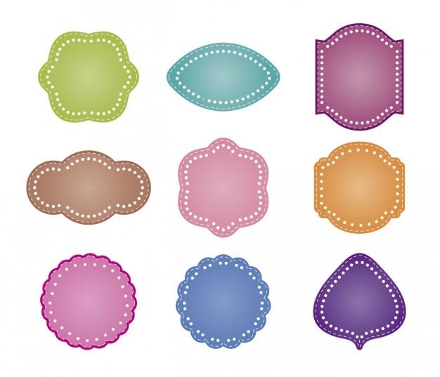 Diverse bagdes shapes