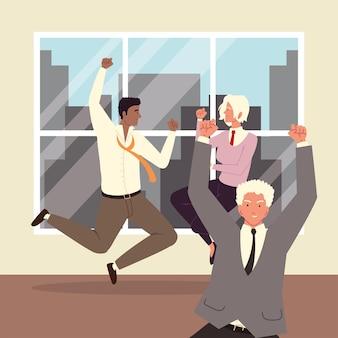 Разнообразные деловые люди в офисе