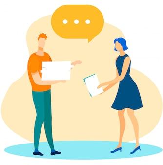 다양한 사무 직원 이야기 및 프로젝트 토론