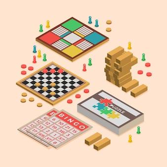 Разнообразный набор настольных игр