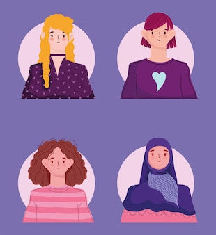 Diverse young women