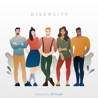 Разнообразие концепции плоский стиль фона