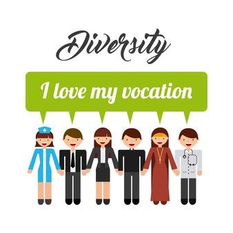 Разнообразие людей дизайн