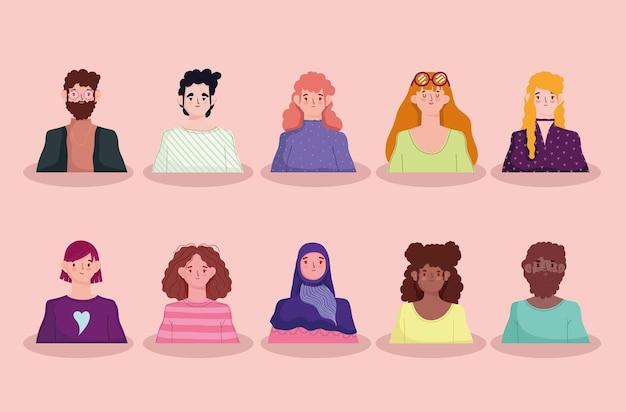 다양성 사람들 그룹