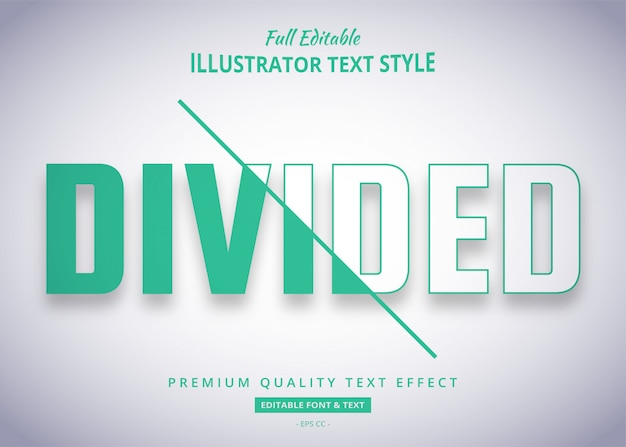 Divided trend text style effect