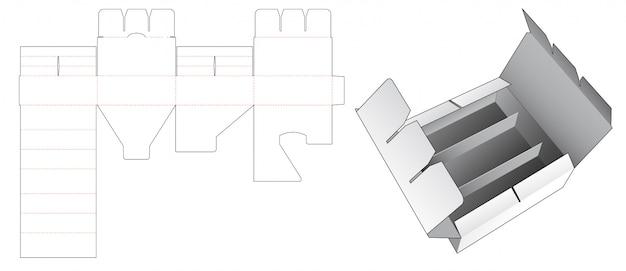 Divider box die cut template