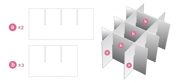 Divider die cut template