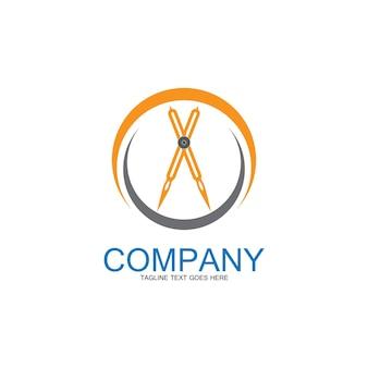 Divider icon vector.surveyor and geometry,engineer,architect,school symbol,flat vector illustration-image vectorielles