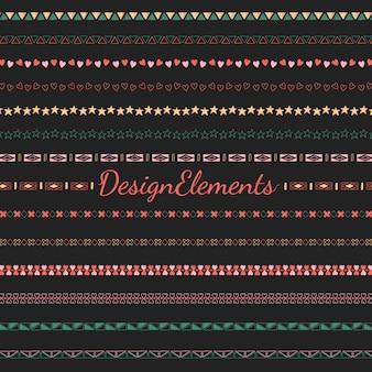 Divider line design elements collection