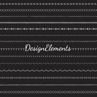 Коллекция векторных элементов дизайна линии разделителя