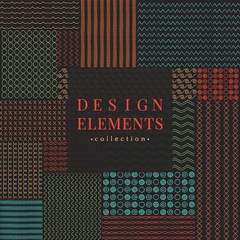 Divider line design elements vector collection