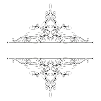 Divider or frame in calligraphic retro style isolated