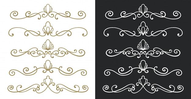 Divider ornament vintage hand drawn.