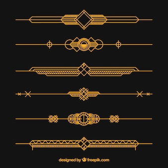 Dividers collection in art deco style