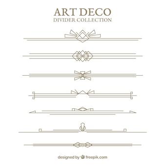 Коллекция разделов в стиле арт-деко