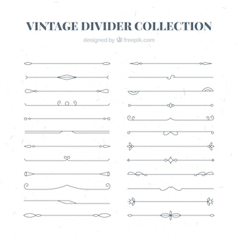 Dividers collection in vintage style