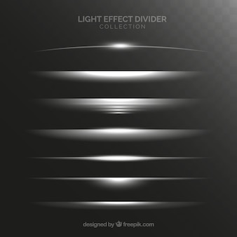 Dividers collection with light effect