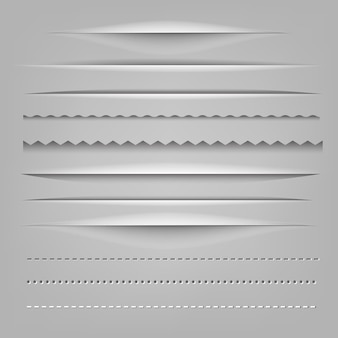 Разделители бумажные вырезанные
